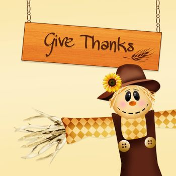 illustration of give thank
