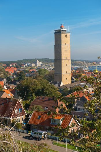 The Brandaris lighthouse on the island of Terschelling in the North of the Netherlands
