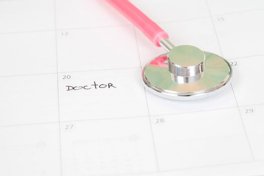 "Reminder ""Doctor appointment"" in calendar"