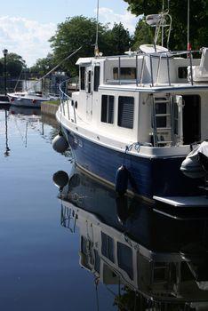 Boat Closeup on Waterway