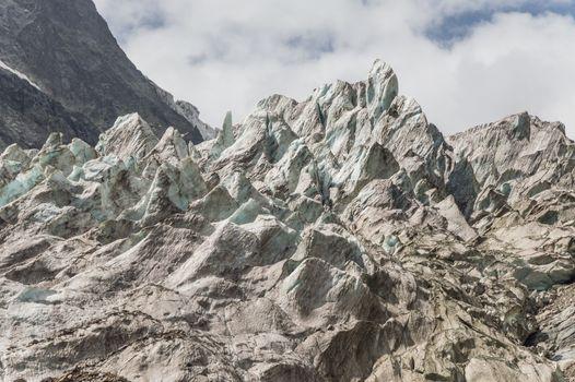 Glacier in mountain