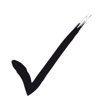 a black check mark