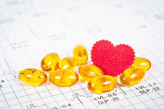 vitamins heart concept.