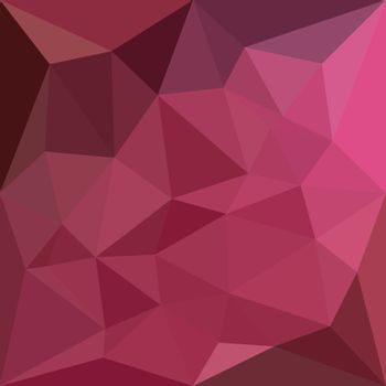 Low polygon style illustration of a begonia pink abstract geometric background.