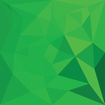 Low polygon style illustration of a bittter lemon green abstract geometric background.