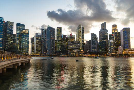 Singapore Cityscape Marina Bay