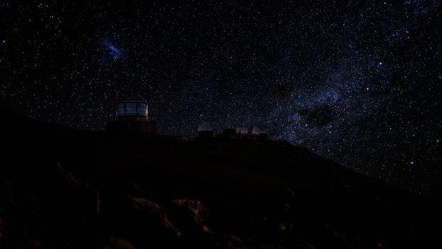 Observatories at the Summit of Haleakala, Maui