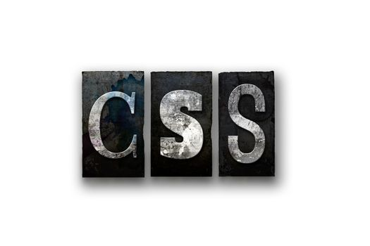 CSS Concept Isolated Letterpress Type