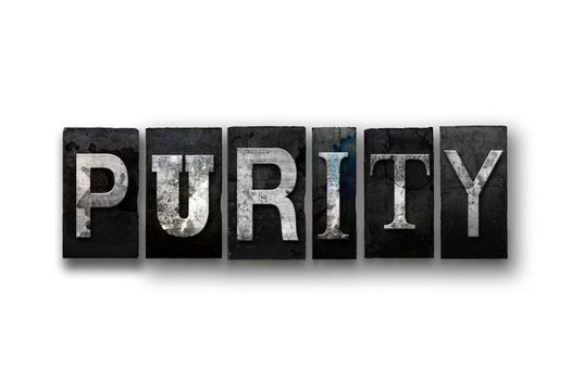 Purity Concept Isolated Letterpress Type