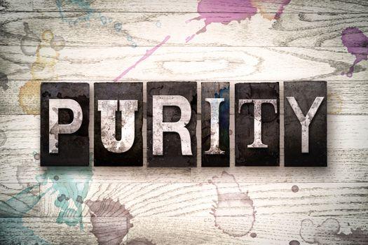 Purity Concept Metal Letterpress Type