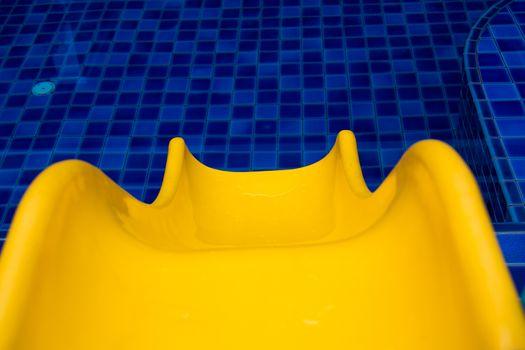 Pool Slide Swimming public pool slide blue water outdoors