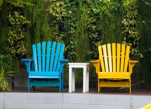 Relaxing chairs in garden