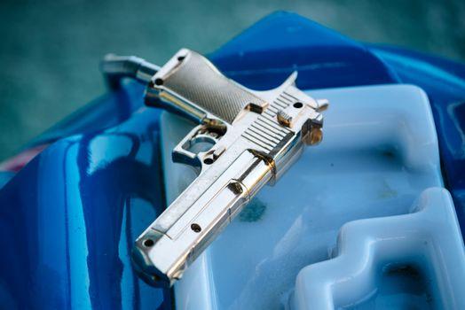 Plastic toy gun for arcade video game
