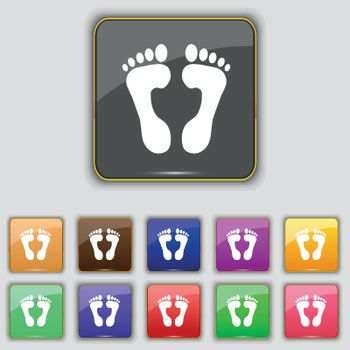 Food step Icon sign. Set with eleven colored buttons for your site. Vector illustration