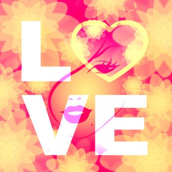 Love Heart Represents Compassion Fondness And Devotion