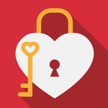 Hearts Lock Showing Valentines Day And Romance