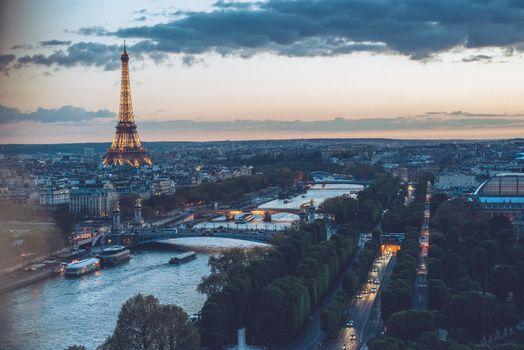 Eiffel Tower (Paris, France) top view