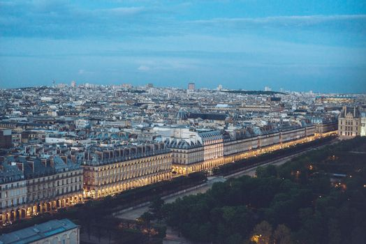 City Center View of Paris from the top