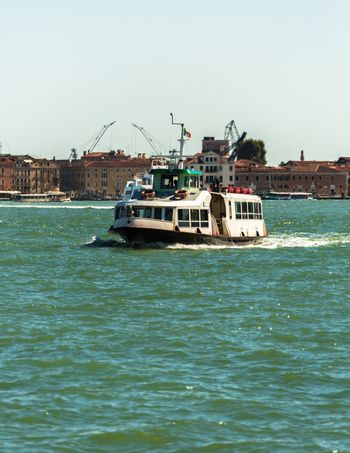 boat floating from the island of San Giorgio