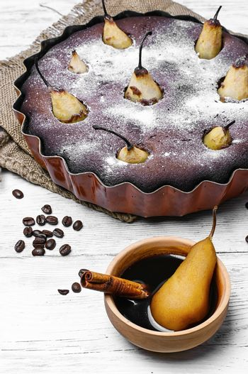 Cake with pear
