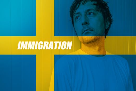 Swedish immigration concept