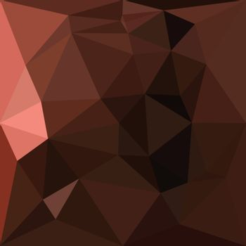Saddle Brown Abstract Low Polygon Background