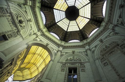 the covered Passage of Pasajul Villacros in the city of Bucharest in Romania in east europe.