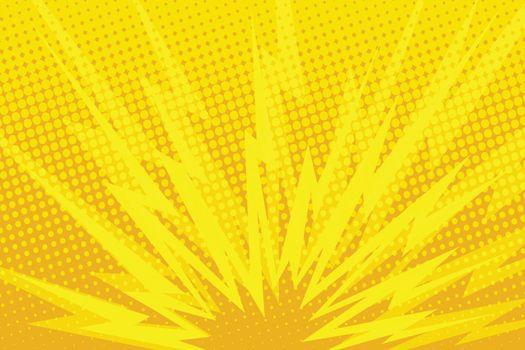 Yellow cartoon blast background