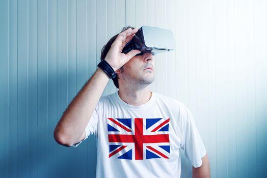 UK guy exploring virtual reality environment