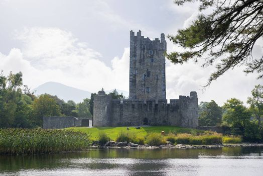 ross castle on the lakes of killarney in county kerry ireland