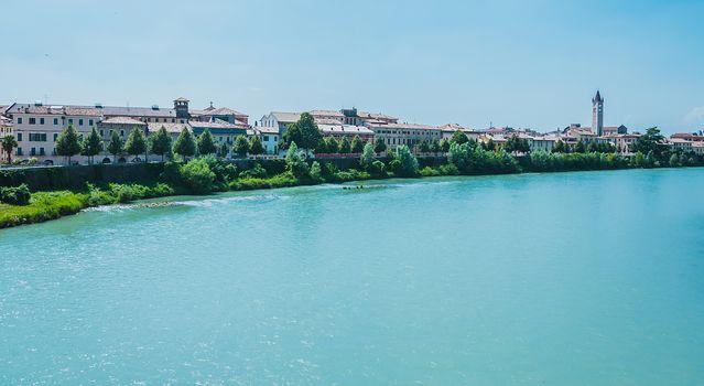 Embankment of river Adige