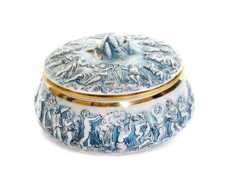 porcelain candy box