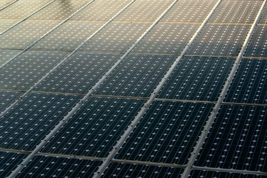 Sunlight on solar panels