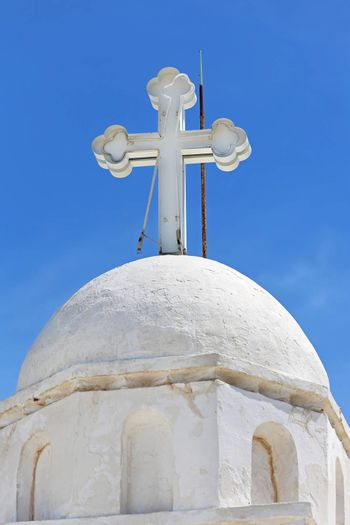 Greek Cross at Orthodox Christian Church in Athens
