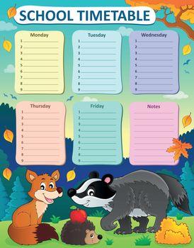 Weekly school timetable subject 1