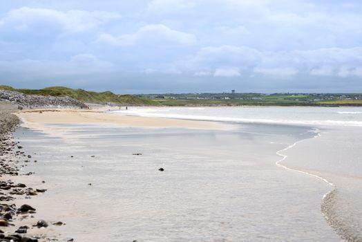 sandy ballybunion beach beside the links golf course in county kerry ireland