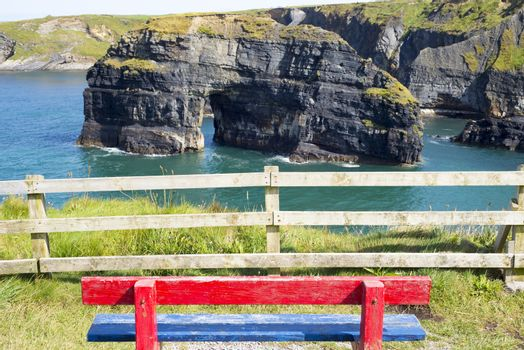 seat view of the virgin rock ballybunion on the wild atlantic way
