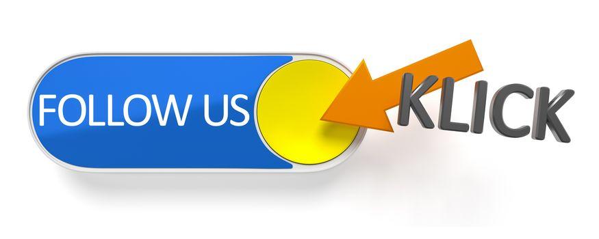 a push button follow us