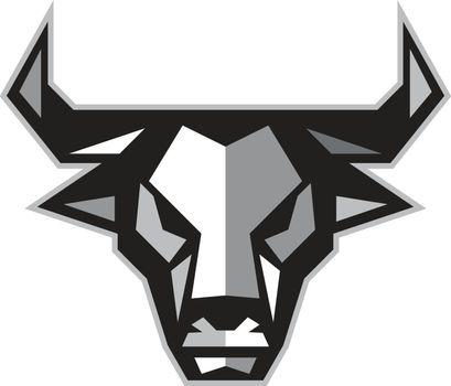 Bull Cow Head Low Polygon
