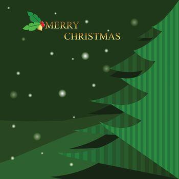 Christmas tree on wintertime