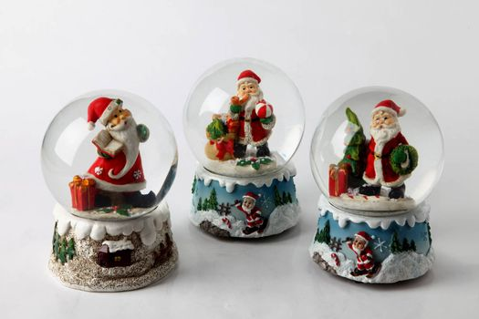 christmas decorations for table on a white background