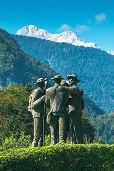 Four brave men from Bohinj - the first men on Triglav