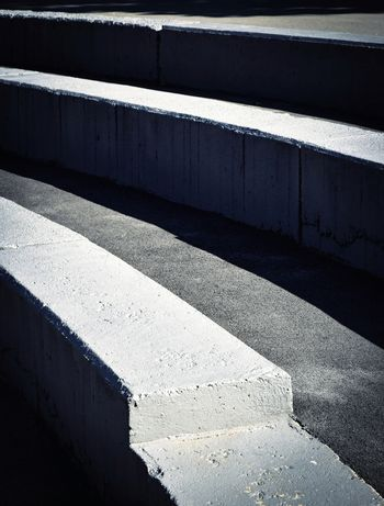 Concrete steps for seating