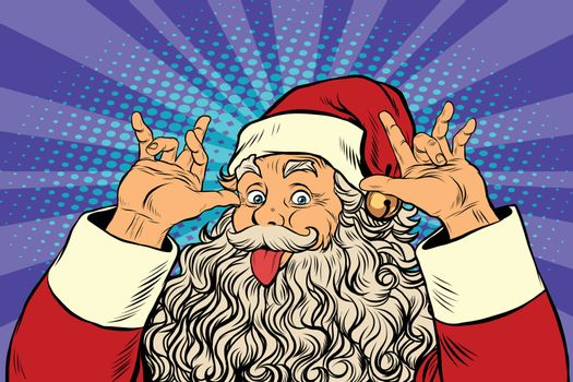 Santa Claus tease, good sense of humor
