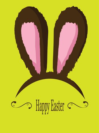 Vector of furry Easter bunny ears