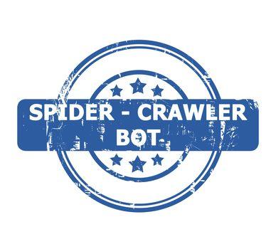 Spider Crawler Bot Stamp