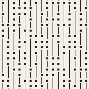 Vector Seamless Black And White Irregular Vertical Lines Pattern. Abstract Geometric Background Design