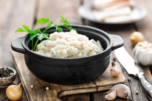 lard with salt and garlic, traditional ukrainian cuisine