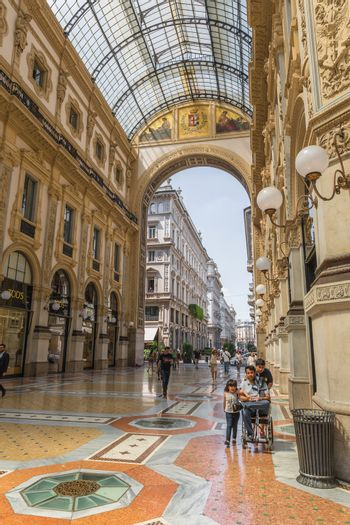 Galleria Vittorio Emanuele II in Milan, one of the world's oldes