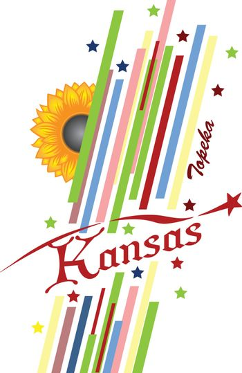 Abstract symbols of the State of Kansas